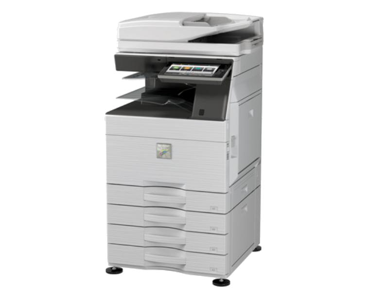 """Velocità di Copia/Stampa MX-3060N 30 ppm MX-3560N 35 ppm MX-4060N 40 ppm Formato carta max SRA3, min A5R Display LCD a colori da 10,1"""" finger swipe Capacità carta std. 650 fogli: 1 cassetto da 550 fogli + bypass da 100 fogli Capacità carta max. 6.300 fogli: 2 cassetti da 550 fogli + cassetto tandem (1 x 1.200 fogli + 1 x 900 fogli) + bypass da 100 fogli + 1 cassettone da 3.000 fogli Alimentatore automatico RSPF da 100 fogli Modulo fronte-retro standard Grammatura carta 60-300 g/m² da cassetti, 55-300 g/m² da bypass Memoria di copia/stampa 5 GB Hard Disk 500 GB Stampante di rete standard (10/100/1000 base-T) e WiFi Integrato Linguaggi di stampa PCL6 e Adobe Postscript 3 std Risoluzione di stampa 1200 x 1200 dpi Scanner di rete a colori standard Velocità di scansione fino a 80 opm Scheda Fax Super G3 opzionale Kit OSA Ver 5.0 - MXAMX2 e MXAMX3 Standard"""
